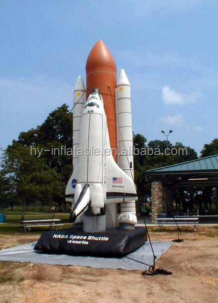 inflatable space model advertising shuttle