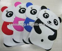 3D panda silicone case back cover for mini ipad