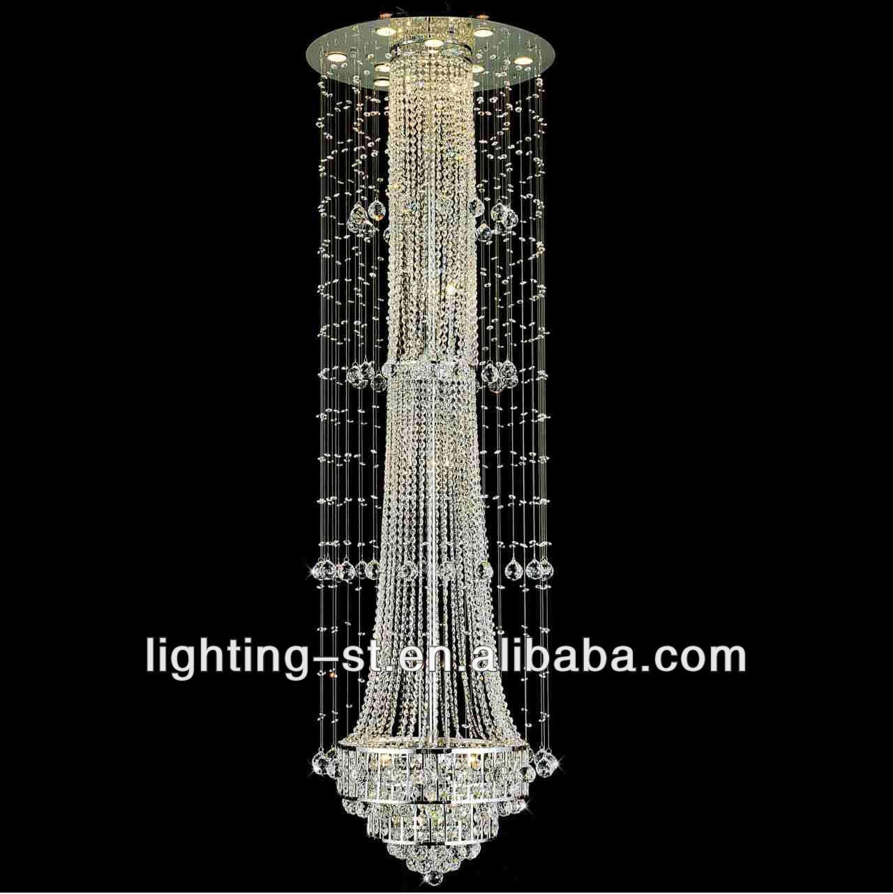 '' chateaux modern foyer crystal chandeliers with mirror  - '' chateaux modern foyer crystal chandeliers with mirror stainless steelbase hcc  buy big modern chandeliersmodern chandelier for highceilings