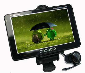 Dual Camera Full HD 1080p Car DVR With GPS And Rearview Camera