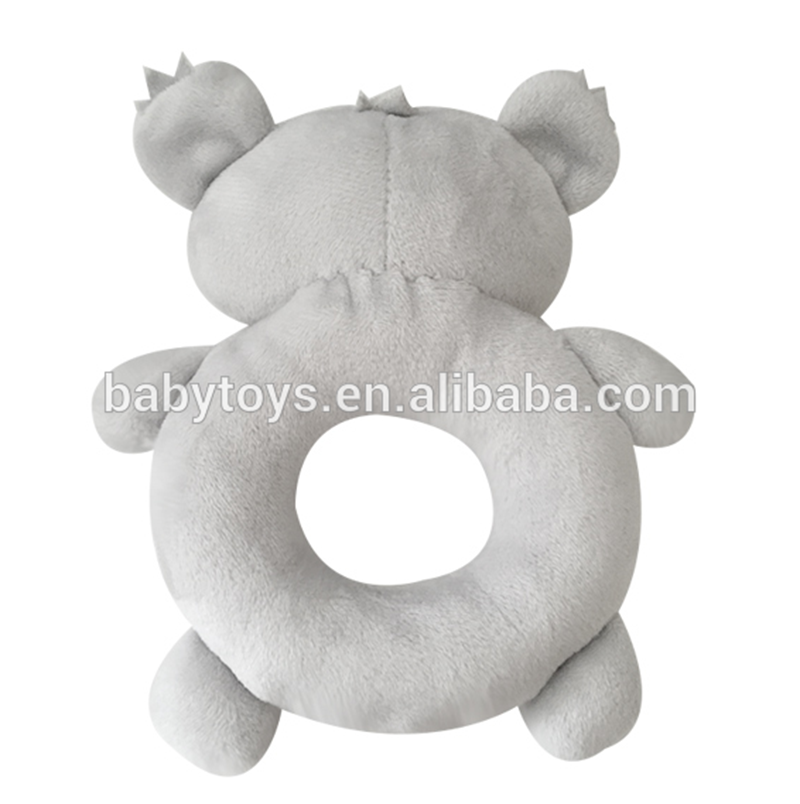 Custom stuffed koala bear toy plush baby rattle