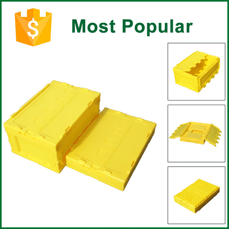 Printing Logo Fold Up Plastic Storage Box Attach Lid