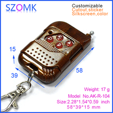 Remote control plastic case for electronic