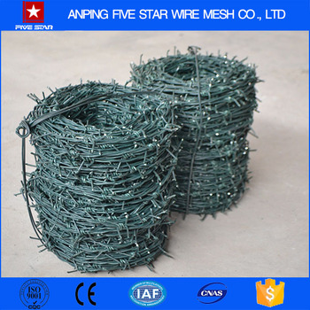 Low Price High Tensile Plastic Barbed Wire Roll For Sale