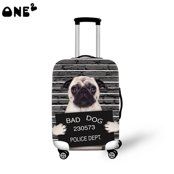 ONE2 design cool dog animal custom luggage cover spandex