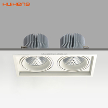 30w*2 60w CREE led Grille Aluminum Rectangular Downlight