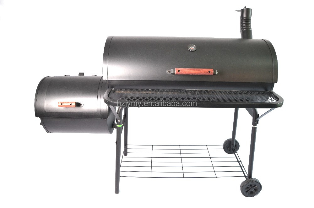 Beer keg grill big cooking pot charcoal bbq smoker in black