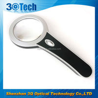 DH-81007 Bend shape handheld 10x led light loupe magnifier