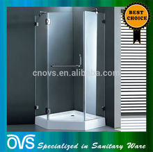 aluminum frame round shower enclosure