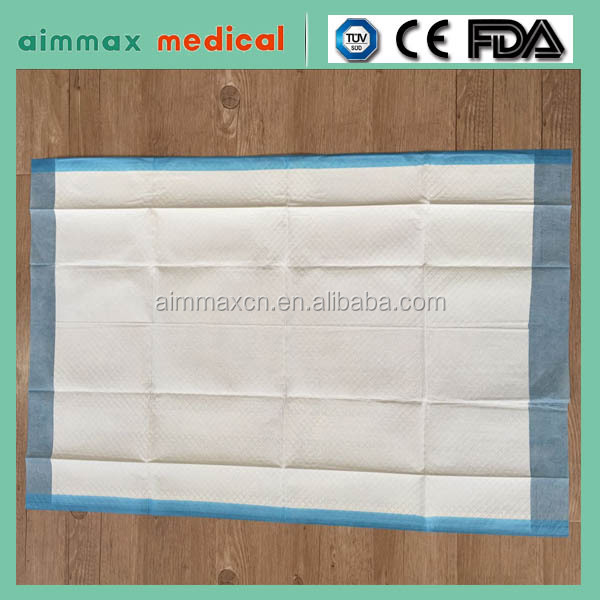 FDA Disposable bedding nursing pads ,underpad medical hospital 60x60cm