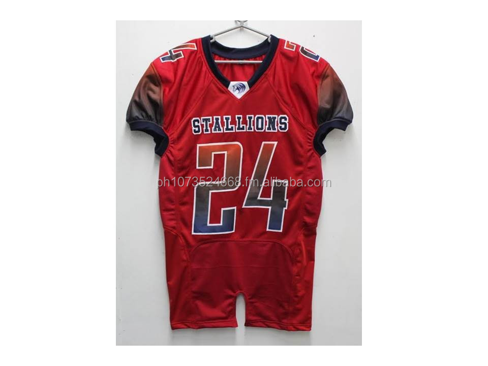 QUALITY FULL CUSTOM SUBLIMATED AND TACKLE TWILL AMERICAN FOOTBALL JERSEY