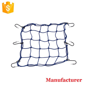 "15"" x 15"" Elastic Motorcycle Luggage Net With Plastic Hooks Cargo Nets Bungee Cord Net"