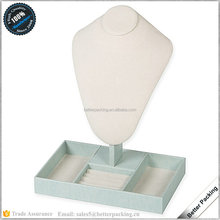 custom PU leather display tray MDF frame jewelry ring necklace bracelet packaging display