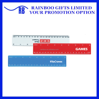 Hot selling top quality 8 inch promotional 20 cm plastic ruler for school ABM159