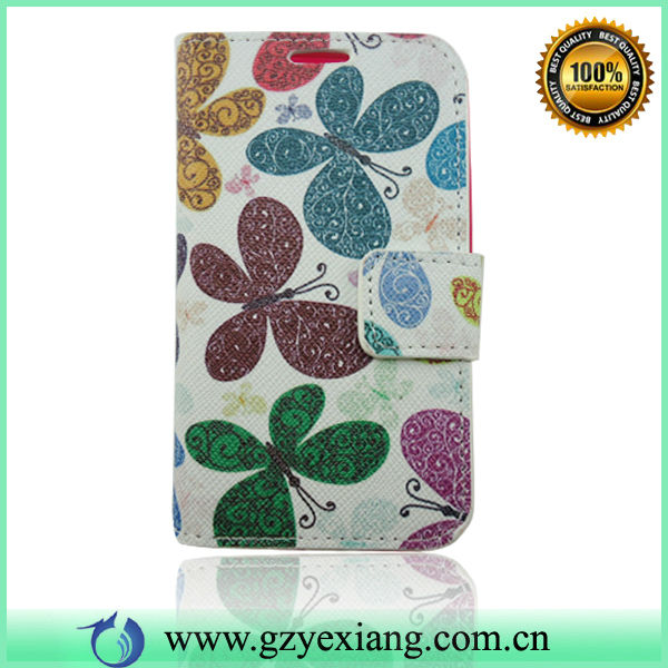Flower Design Leather Flip Case For Nokia Lumia 620 Custom Back Cover