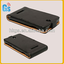 Magnetic Folio Leather Case Cover for Sony Xperia E dual C1604/C1605 advance cover case