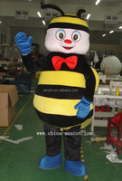 High quality cutom new style bee family fur costume character Halloween costumes fancy dress suit