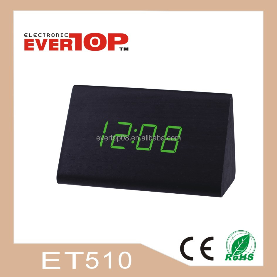 2016 NEW WOODEN CLOCK DESK DIGITAL CLOCK ET510