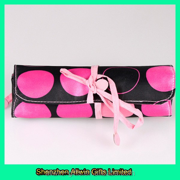 Brush storage bag custom roll up cosmetic brush bag