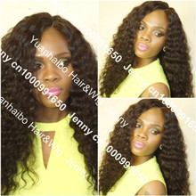 top 5a quality cheap price, #1b brazilian virgin hair afro curl full lace wig for white women