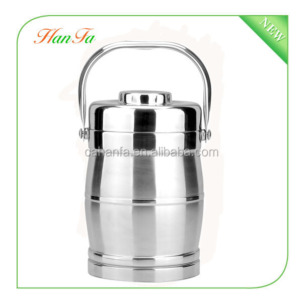 different Size food container/portable drum shape food pot soup pot/stainless steel food box