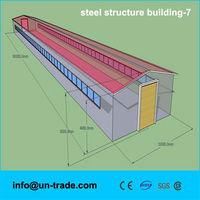 Low cost and high quality prefab steel structure