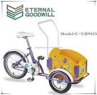Three wheels cargo bike 3 wheels pocket bike single speed child cargo bike//bakfiets/cargobike UB9035