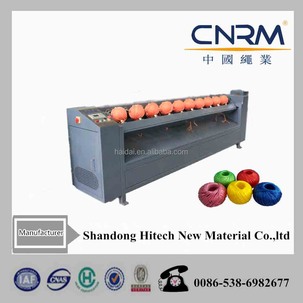 CNRM Haidai Multi heads sisal jute raffia plastic yarn ball winder machinery