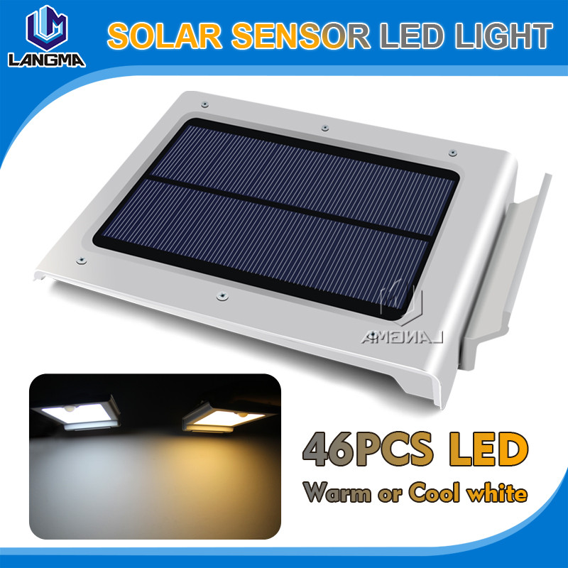 46 LED Solar Power Garden Security Lamp Outdoor Waterproof Wall Light