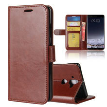 Genuine Crazy Horse PU Leather Wallet Phone Case For Nokia 9 High Quality Mobile Cover
