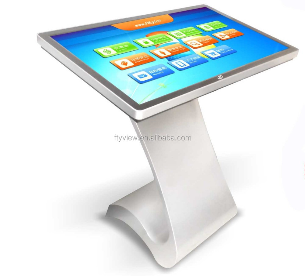 55 Inch Interactive Touch Screen Digital Signage Kiosk