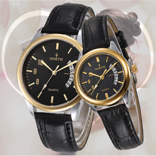 Free Shipping Low MOQ Alloy Case Genuine Leather Best Quartz Cute Couple Watches