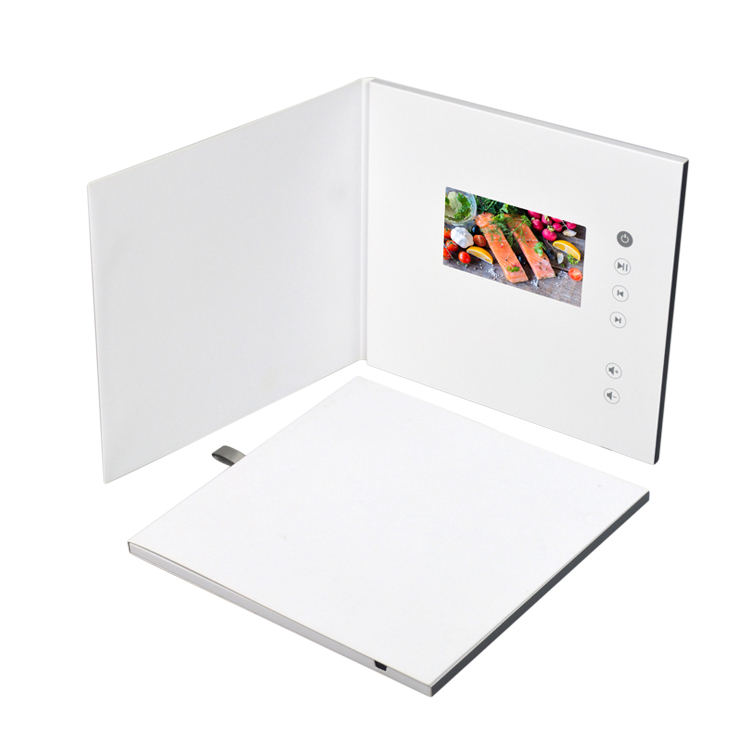 Hot selling 5 7 10 inch story book lcd mailer video player greeting card digital video brochure for advertising