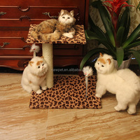 High quality modern design square plate cat tree pet toys type cat scratcher