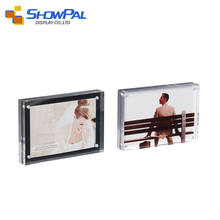 Professional team acrylic 4 sided block photo booth cube frame