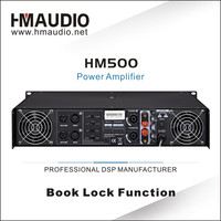 HM500 2 channel pa concerts tube power amplifier for subwoofer