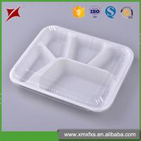 Hot sale plastic food tray PP disposable compartment lunch box