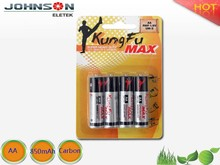 china wholesales the no.5 carbon batteries 1.5v r6 aa size dry battery