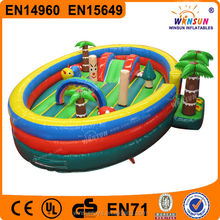 commercial kindergarten inflatable tropical island bouncer