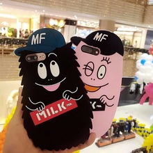 3D Custom Silicone Cell Case for iPhone 7 7plus 6 6s 6plus Soft Gel Lady Cartoon Movie Phone Back Case Cover