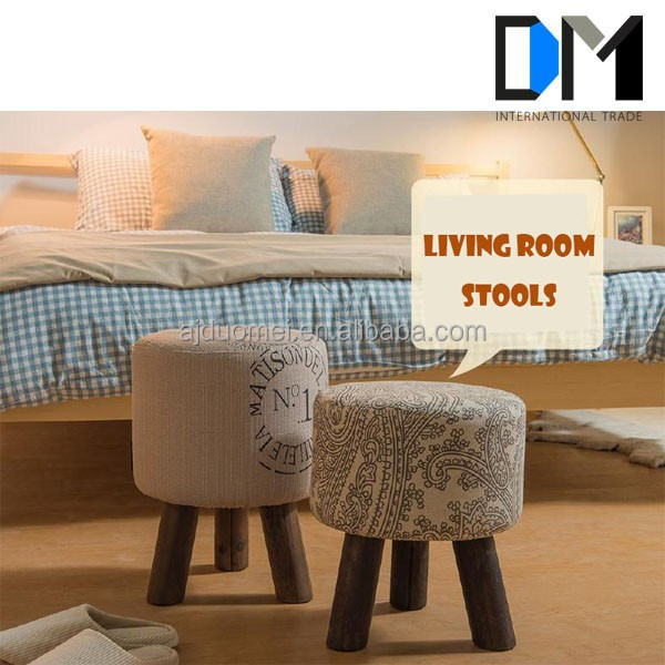 wholesale design fabric living room shoe store foot stool/children