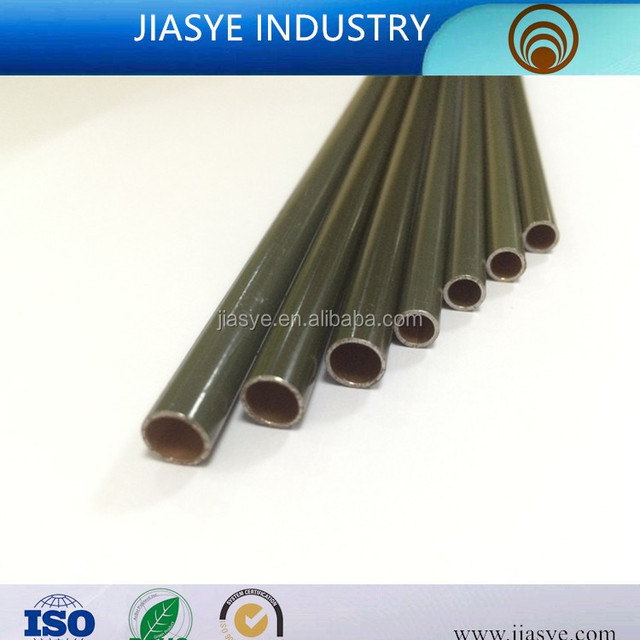 SAE J527 SPCEN 6.35*0.5mm PVF coated double wall steel pipe bundy tube for brake pipe line of automobile