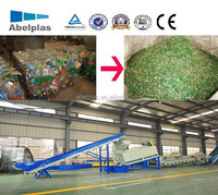 Full automatic recycle waste plastic pet bottle