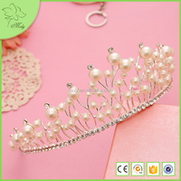 Elegant Queen Crowns Pearl Bridal Tiaras Flower Shaped Bridal Crowns and Tiaras Cheap Crowns and Tiaras Wholesale