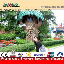 Amusement park equipment robotic talking tree for interactive