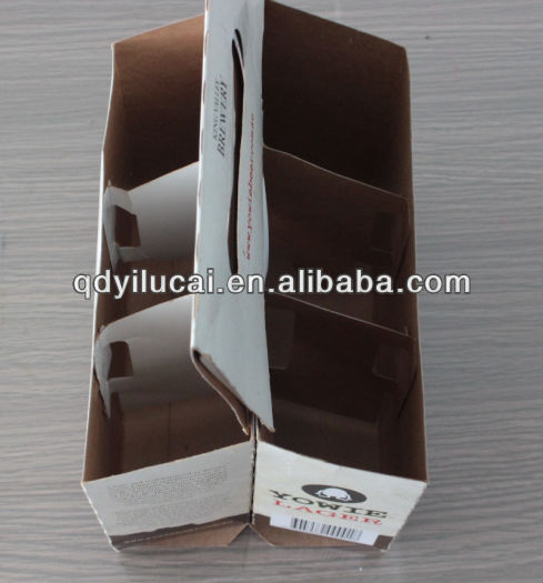 custom printing corrugated kraft cardboard six pack beer led light shipping box carrier