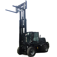 China New 3.5 T Rough Terrain Forklift All Terrain Diesel Runs Fork Lift 3 Stage Mast Side Shift