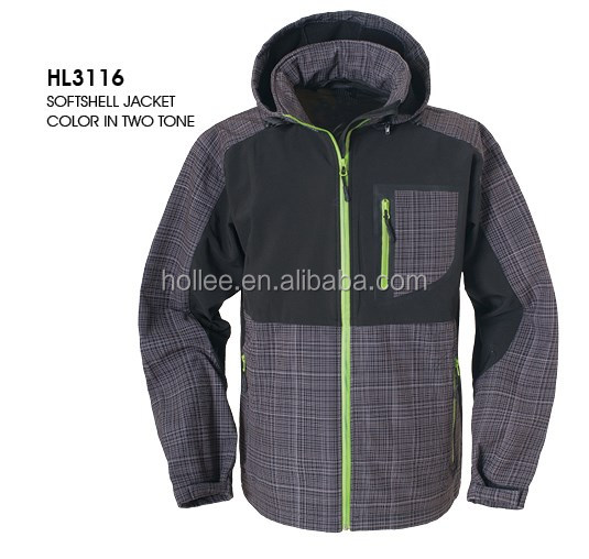 OEM Hot Sale Hooded Waterproof Air Breathable Softshell Jacket