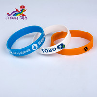 Customize 1/2 inch one color printing silicone wristband manufacturer