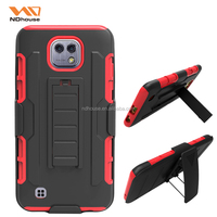 For LG X CAM mobile phone case pc silicone holster K580 combo back cover case